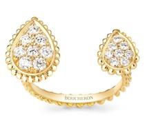 18kt Serpent Bohème Gelbgoldring mit Diamanten