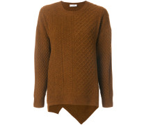round neck cable stitch jumper