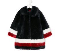 color block striped coat