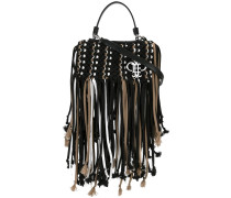 fringed trim cross body bags