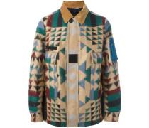 Jacke mit geometrischem Print - men