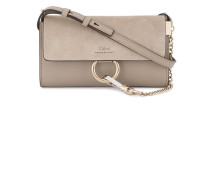 - Grey Faye chain wallet bag - women