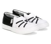 Slip-On-Sneakers mit Katzenmotiv - kids