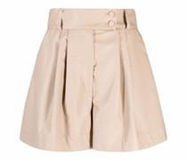 High-Waist-Shorts mit Falten