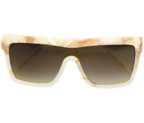 Marmorierte Sonnenbrille - women - Acetat