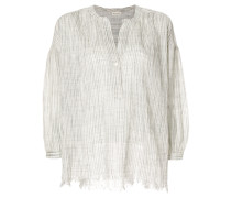 distressed floaty blouse