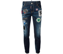 'Cool Girl' Jeans mit Patches