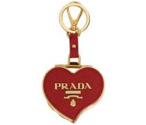 Saffiano heart keychain