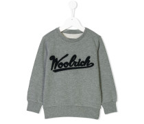 flocked logo sweatshirt