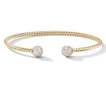 18kt 'Solari' 7mm Gelbgoldarmspange mit Diamanten