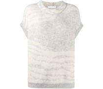 Pullover mit Zebra-Print