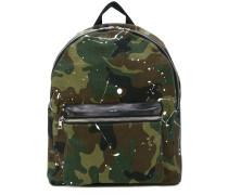 camouflage paint splatter backpack