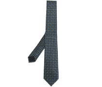 geometric woven tie