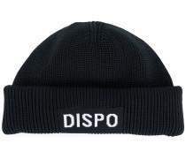 """Strickmütze mit """"Dispo""""-Patch"""