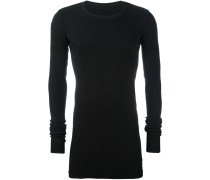 Geripptes Sweatshirt mit rundem Ausschnitt