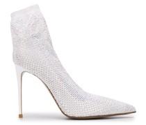 Sock-Stiefel mit verziertem Absatz