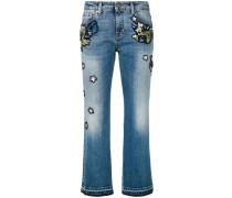 Verzierte Cropped-Jeans - women