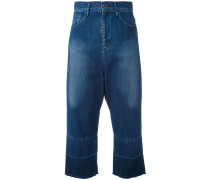 CroppedJeans mit weitem Bein