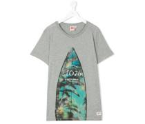 teen surfboard print T-shirt - kids - Baumwolle