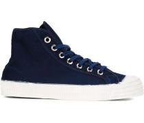 High-Top-Sneakers mit Kontrastkappe