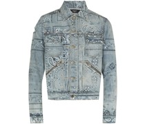 bandana-print denim jacket