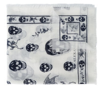 Schal mit Totenkopfmuster