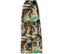 animal print palazzo pants - women - Baumwolle