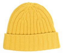 rib-knit beanie hat