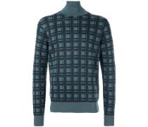 Karierter Pullover - men - Seide/Kaschmir - 54
