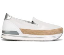 Loafer mit geflochtenem Einsatz