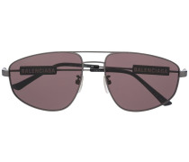 Eckige 'Tag Pilot' Sonnenbrille