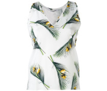 Seidentop mit tropischem Print - women - Seide