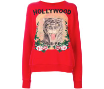 Hollywood feline print sweatshirt