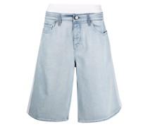 Jeans-Shorts mit doppeltem Bund