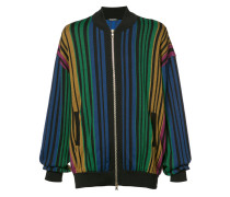 rainbow striped bomber jacket - men