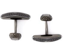 Rhodinierte Manschettenknöpfe aus Silber