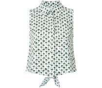 - Ärmelloses Hemd mit Palmen-Print - women