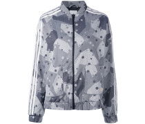 - graphic print track jacket - women - Polyester