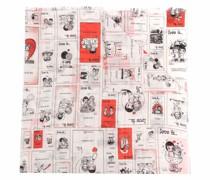Schal mit Cartoon-Print
