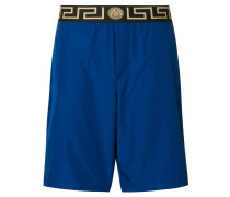 Greek Key waistband swim shorts