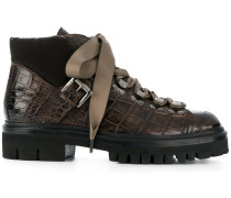 'Mountain' Stiefel aus Krokodilleder