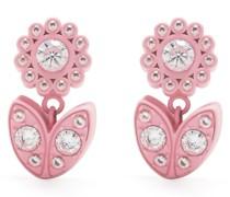 Blumenohrringe mit Kristallen