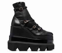 platform-sole ankle boots