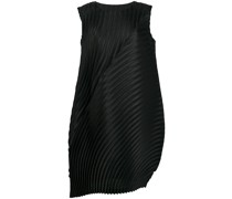pleated rounded shift dress