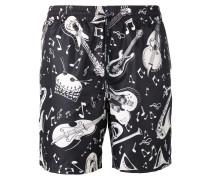 Shorts mit Musiker-Print