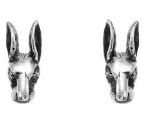 Anger Forest rabbit head earrings in silver