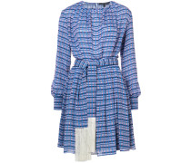 Long Sleeve Midi Dress with Tasseled Belt
