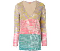 sequined striped blouse