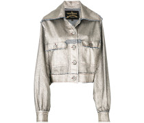 metallic fitted jacket