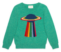 planet and rainbow sweater